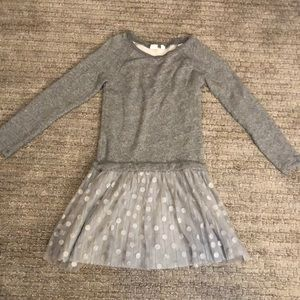 Gap kids heathered gray and sparkle dress